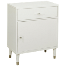 Accentrics Home Small Spaces 1 Door 1 Drawer Chairside Chest