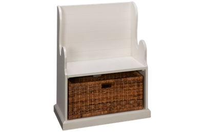 Sunny Designs Manor House Hall Seat with Rattan