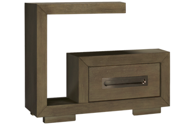 Accentrics Home Tru Modern Cantilever 1 Drawer Nightstand