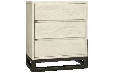 Accentrics Home Modern Authentics 3 Drawer Industrial Nightstand