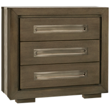 Accentrics Home Tru Modern 3 Drawer Nightstand