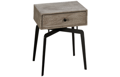 Accentrics Home Tru Modern Iron Leg Side Table