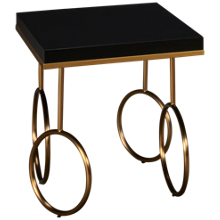 Accentrics Home Tru Modern End Table Gold Rings