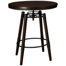Accentrics Home Modern Authentics Industrial Adjustable Height Bar Table