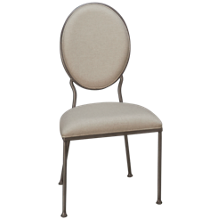 Accentrics Home Urban Eclectic Oval Back Dining Side Chair