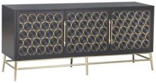 Accentrics Home Urban Eclectic Wine Bottle Three Door Console