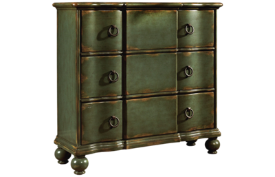 Accentrics Home Green Distressed Drawer Chest
