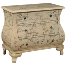 Accentrics Home Hand Painted Words Bombay Chest