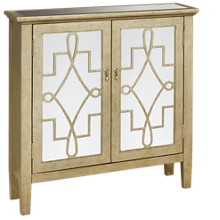 Accentrics Home Mirrored Door Chest