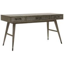 Accentrics Home Urban Eclectic Grey Oak & Metal Drawer Desk