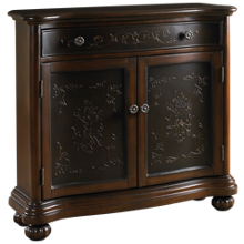 Accentrics Home Faux Metal Inlay Hall Chest