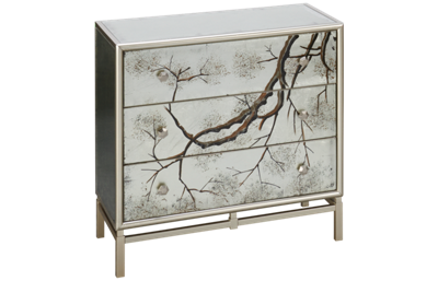Coast To Coast Imports Silvermist 3 Drawer Accent
