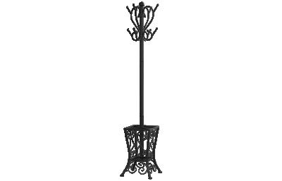 """Monarch Specialties 71"""" Coat Rack with Umbrella Holder"""