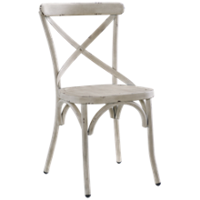 Accentrics Home White Metal Dining Chair