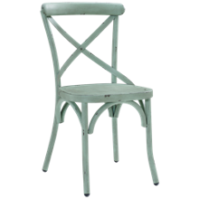 Accentrics Home Blue Metal Dining Chair