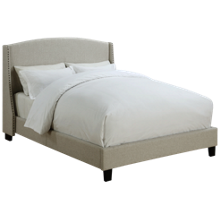 Accentrics Home Queen All-In-One Upholstered Bed
