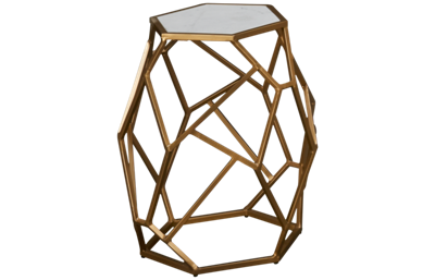 Coast To Coast Imports Accents Hexagonal Accent Table