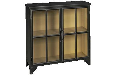 Accentrics Home Modern Authentics 2 Door Metal Display Cabinet