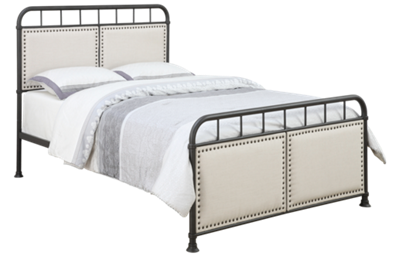 Accentrics Home Queen All In One Upholstered Metal