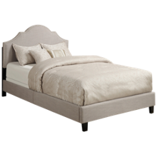 Accentrics Home Queen All In One Upholstered Bed with Nailheads