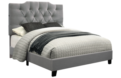Accentrics Home Queen All In One Upholstered Bed with USB Ports