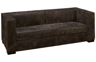 Accentrics Home Modern Authentics Leather Sofa