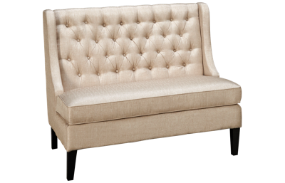 Accentrics Home Modern Authentics Upholstered Shelter Tufted Bench