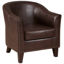 Accentrics Home Barrel Accent Chair