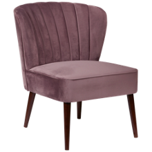 Accentrics Home Channeled Armless Accent Chair