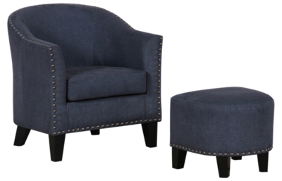 Accentrics Home Accent Chair And Ottoman