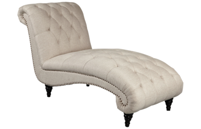 Accentrics Home Button Tufted Chaise