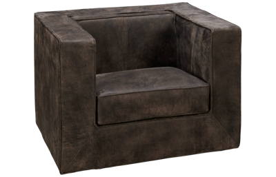 Accentrics Home Tru Modern Leather Chair