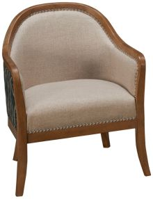 Accentrics Home Modern Authentics Wood Frame Accent Chair