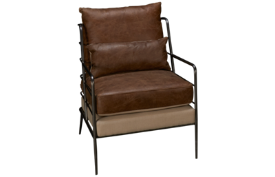 Accentrics Home Modern Authentics Leather Chair