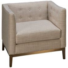 Accentrics Home Urban Eclectic Milan Button Tufted Chair