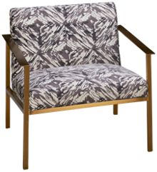 Accentrics Home Urban Eclectic Gold Frame Accent Chair