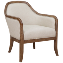 Accentrics Home Wood Frame Accent Arm Chair