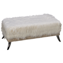 Accentrics Home City Chic Sheepskin Storage Ottoman