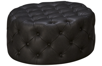 Accentrics Home Urban Eclectic Diamond Button Round Leather
