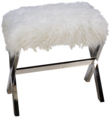 Accentrics Home City Chic Sheepskin Bench