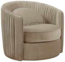 Accentrics Home Small Spaces Swivel Accent Chair
