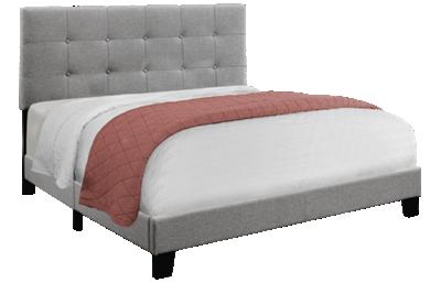 Monarch Specialties Queen Upholstered Bed