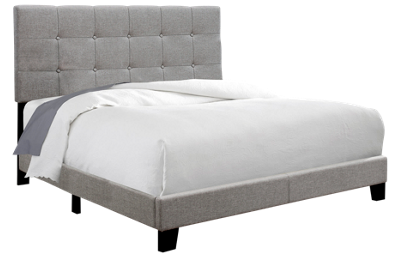Monarch Specialties Full Upholstered Bed