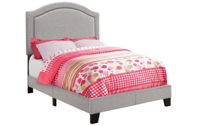 Monarch Specialties Twin Upholstered Bed