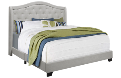 Monarch Specialties Queen Upholstered Bed