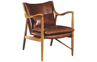 Accentrics Home Leather Accent Chair