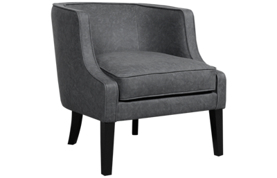 Accentrics Home Upholstered Leather Arm Chair