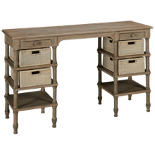 Trade Winds Island Desk with Media Baskets