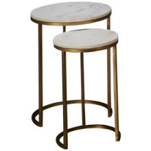 Riverside Edith Marble Nesting Side Tables