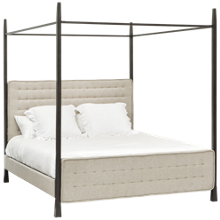 Accentrics Home Modern Authentics Queen Canopy Bed